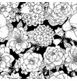 beautiful seamless floral pattern with various vector image