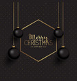 black and gold christmas background vector image vector image