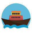 boat transport marine icon graphic vector image