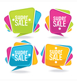 bright sales labels vector image vector image