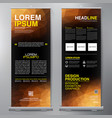 business roll up standee design banner template vector image vector image