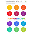 Cannabinoids in cbd oil with structural formulas