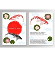Carp Koi Asian style template brochure vector image