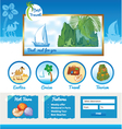 Cartoon Template for Travel site vector image vector image
