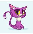 cartoon violet kitty vector image vector image