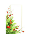christmas greeting card template with text vector image vector image