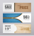 cloth fabric textile banners set vector image