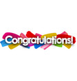 congratulations banner with brush strokes vector image vector image