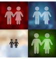 couple in love icon on blurred background vector image