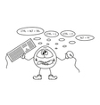 crazy programmer sketch vector image