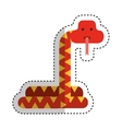 cute snake character icon vector image