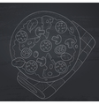Delicious pizza with salami vector image vector image
