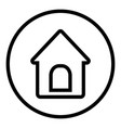 doghouse icon in round style vector image vector image