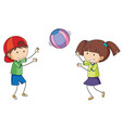 doodle children playing ball vector image vector image