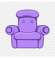 easy armchair icon cartoon style vector image