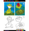 Fantasy frog prince for coloring vector image