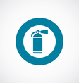 fire extinguisher icon bold blue circle border vector image