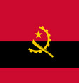 flag of angola official colors and proportions vector image