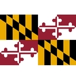 Flag of Maryland correct proportions and colors vector image vector image