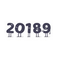 funny cartoon 2019 new year vector image vector image