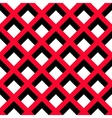 Geometric Red Black White Pattern vector image vector image