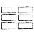 grungy rectangular frame set set of 6 version vector image