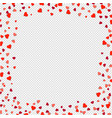 hearts borders isolated transparent background vector image vector image