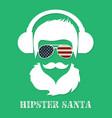 hipster santa claus character vector image