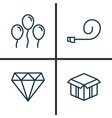 holiday icons set collection of air ball open vector image