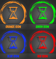 hourglass icon Fashionable modern style In the vector image vector image