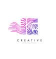 ie i e zebra lines letter logo design with vector image