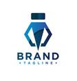 industrial business logo letter i vector image vector image