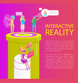interactive reality items set vector image vector image
