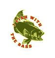 largemouth bass fish jumping vector image vector image