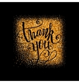 Luxury Thank you badge vector image