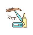 microblading rgb color icon vector image vector image