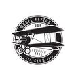 model flying club emblem logo template vintage vector image vector image