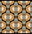 modern striped ornate greek seamless pattern vector image vector image