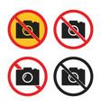 no camera icons set photo signs vector image vector image