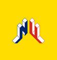 nu - international 2-letter code or national vector image
