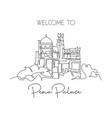 one single line drawing pena palace landmark vector image vector image