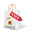 paper bag with summer sale vector image