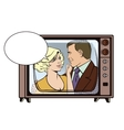 People in retro style pop art Loving couple vector image vector image