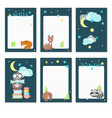 planner template with cute sleeping animals vector image vector image
