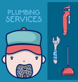 plumbling service concept vector image