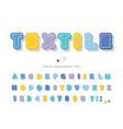 polka dots cartoon font funny textile alphabet vector image