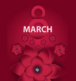 Poster International Happy Women s Day 8 March vector image vector image