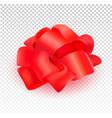 present silk bow 3d realistic vector image
