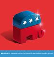 Republican Party 3D Sighn vector image vector image