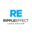 ripple effect logo design vector image